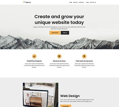 Hızlı Web Site Teması 1